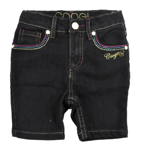 COOGI Little Girls Black Denim Shorts (3T)