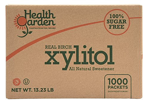 Health Garden Birch Xylitol Sweetener - Non GMO - Kosher - Made in the U.S.A. - Keto Friendly (1000 Packets)