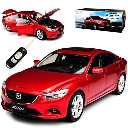 Paudi Mazda 6 Atenza Limousine Rot Typ GJ GL 3. Generation Ab 2012 1/18 Modell Auto mit individiuellem Wunschkennzeichen