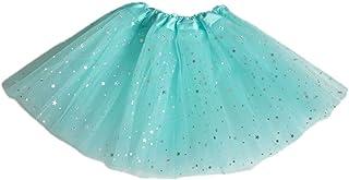 Amphia Mädchen Tüllrock,Tütü Rock Kostüm/Ballettrock Tanzkleid/Paillette Tütü - Kleinkind Baby mädchen Tutu Party Dance Ballett kostüm dot Print Pailletten röcke