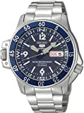 Seiko 5 Sports #SKZ209J1 Men's Atlas Map Meter Stainless Ste...