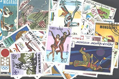 Collezione di francobolli sportivi, 100 francobolli diversi