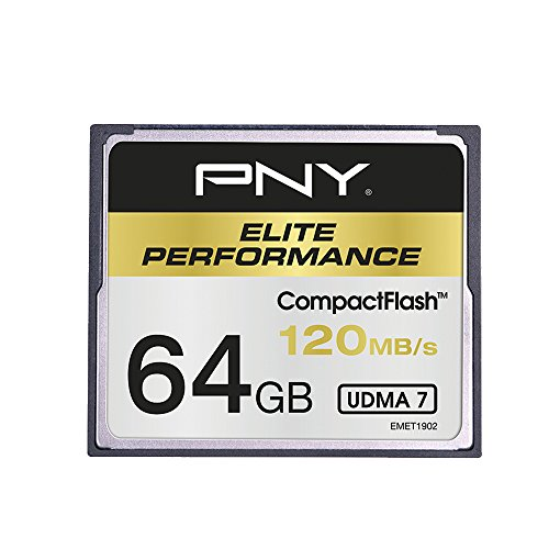 PNY CF Elite Performance 64GB CompactFlash Memoria Flash - Tarjeta de Memoria (64 GB, CompactFlash, 100 MB/s)