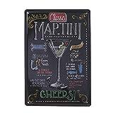 VOSAREA cartel martini vintage,Vintage MARTINI pintura de hojalata, placa Retro MARTINI decoración de pared cartel placa de pintura placa para Bar hogar