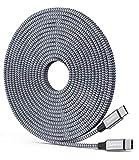 Baiwwa Câble USB C vers USB C extra long 6 m Type C vers Type C PD Charge rapide Chargeur de...