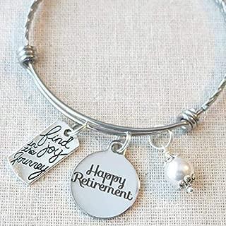 RETIREMENT Gift Bangle Bracelet, Find Joy in the Journey Congratulations Retirement Gift, Happy Retirement Bracelet, Happy Retirement Gift for Her, Teacher Nurse Retirement Gifts