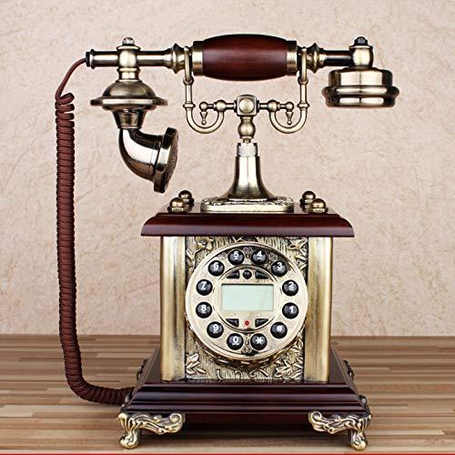 Cajolg Teléfono Fijo Retro con Cable Diseño Retro Teléfono Fijo con Cable Mesa Oficina en casa Botón de marcación Toma de teléfono estándar Teléfono Fijo Teléfono Vintage