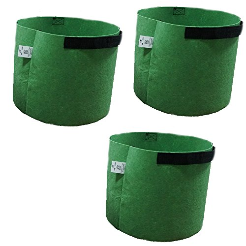 Osyareko 不織布鉢 栽培 園芸用 農業や林業 植物成長鉢 プランター コンテナー ルートバッグ 植え袋 不織布ポット 3個セット (3個の10ガロン)