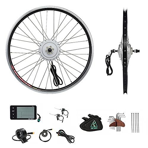 YOSE POWER E-Bike Conversion Kit Front Wheel 36V250W24\'\' Elektrofahrräder Umbausatz Vorderrad 24 Zoll mit LCD Display
