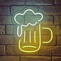 暖かい バーやレストランのための適切なネオンサイン、クリエイティブ・ツェッペリンネオンライト、柔軟なネオンサイン 寝室 (Color : Beer glass)