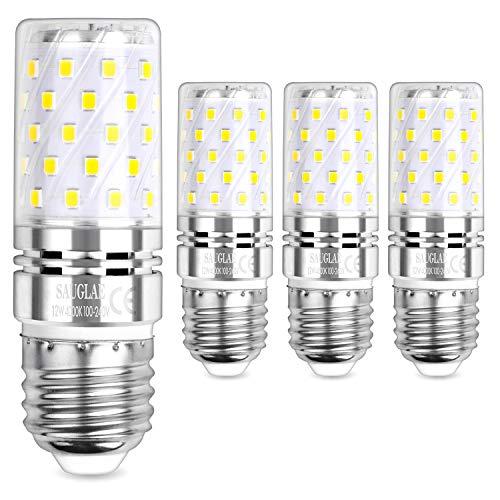 Sauglae E27 LED Mais Leuchtmittel 12W, Entspricht 100W Glühbirnen, 4000K Neutralweiß, 1200lm, Edison Schraube LED Birne, 4-Pack