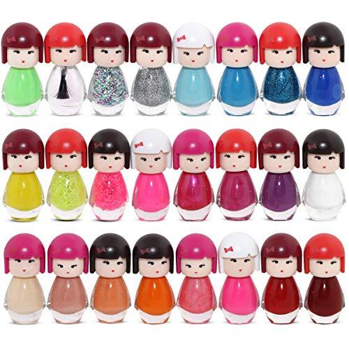 Set di 24 Smalto Per Unghie Bambola Kimono A Forma Di 24 Diversi Colori Moderni Box Di Lusso (Set#1)