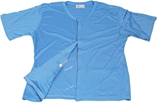 2 pcs Set of Post Mastectomy Surgery Recovery Shirt Easy Open Top with Pockets for Drains