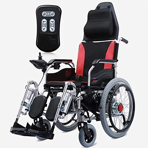 Daxiong Elektro-Rollstuhl, faltbar und leicht elektrischer Rollstuhl, 360 ° Joystick, Sitzbreite: 50 cm, Gewicht 100 kg 12 Ah