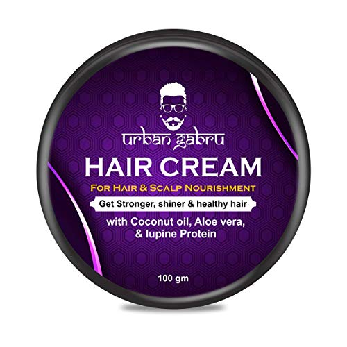 UrbanGabru Hair growth cream with coconut, aloe vera & protein for hair growth and scalp nourishment - Daily use 100 gm