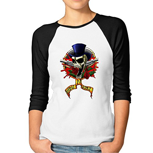 Guns N 'roses GNR chino democracia Axl Rose Fashion para mujer 3/4 Manga Camisetas Tee