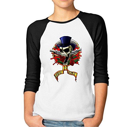 Guns N 'roses GNR chino democracia Axl Rose Fashion para mujer 3/4Manga Camisetas Tee