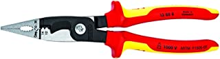 KNIPEX - 13 88 8 US Knipex Tools LP - 13888US Electrical Installation Pliers Red/Yellow