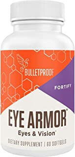 Bulletproof Eye Armor Supplement with Vitamin A (as beta-Carotene) 300mcg, Lutein, Antioxidants in Brain Octane MCT Oil to...