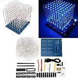 3D LED Light DIY Kit, 3D Printed Circuit Board, Stable 3D Led Cube Light DIY Kit for 8 x 8 x 8CM Cubes, White Blue-Lighting Super Bright LED Light