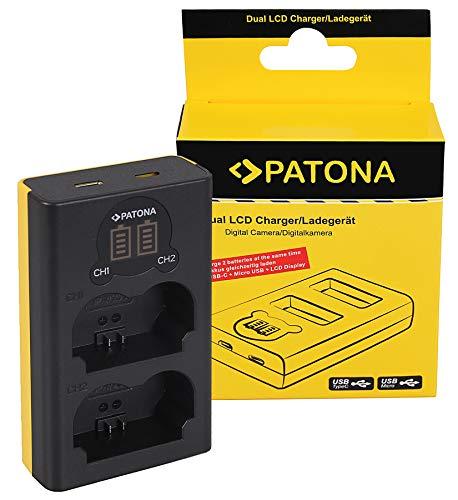 PATONA Cargador Doble LCD USB para NP-W235 batería Compatible con Fuji Fujifilm X-T4