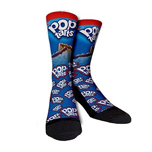 Pop Tarts, Medium, Just Sockz Unisex Casual Crew Socks
