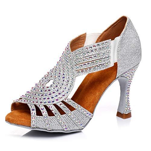 HIPPOSEUS Zapatos de Baile Latino para Mujer Zapatos de Entrenamiento de salón...