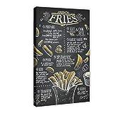 Leinwand-Poster, Motiv: Pommes Frites, Schlafzimmer,