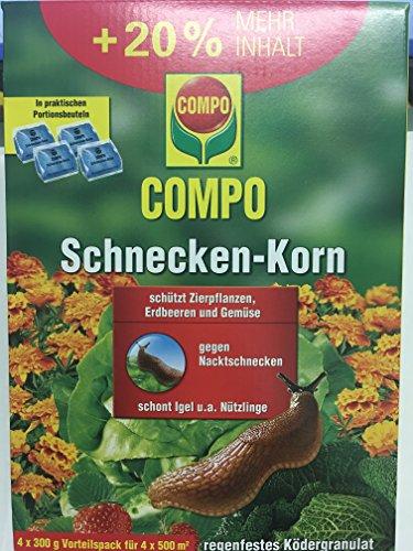Schneckenkorn Compo Vorteilspack 1,2 kg 4 x 300g Beutel