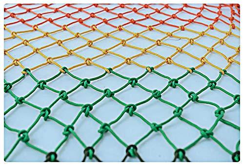 Red Tejida De Cuerda De Nailon Colorida Red De Seguridad De 1 * 2 M Para Protección De Seguridad Red De Cuerda Multicolor De Varios Tamaños 6 Mm * 10 Cm Decoración De Techo Equip(Size:2*8m (7*26ft))