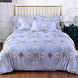 ZYCH Quilts Bettbezug Tencel 4-Teiliges Set Bettbezug Modal 200 * 230 cm Tagesdecken (Color : D)
