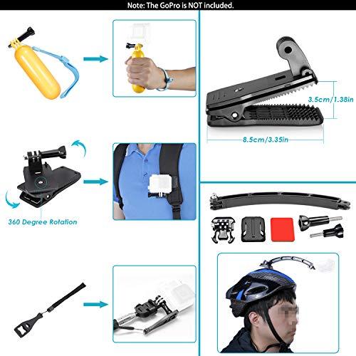 Neewer 50-In-1 Action Camera Accessory Kit, Compatible with GoPro Hero9/Hero8/Hero7, GoPro Max, GoPro Fusion, Insta360, DJI Osmo Action, AKASO, APEMAN, Campark, SJCAM