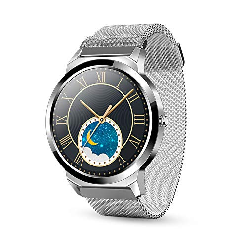 WEINANA High-Definition-Bildschirm 1,28 Zoll Smart Watch Fitness Tracker Smartwatch 5.0 Damen Smart Watch Herren Für Android IOS Mobile Smartwatch(Color:EIN)