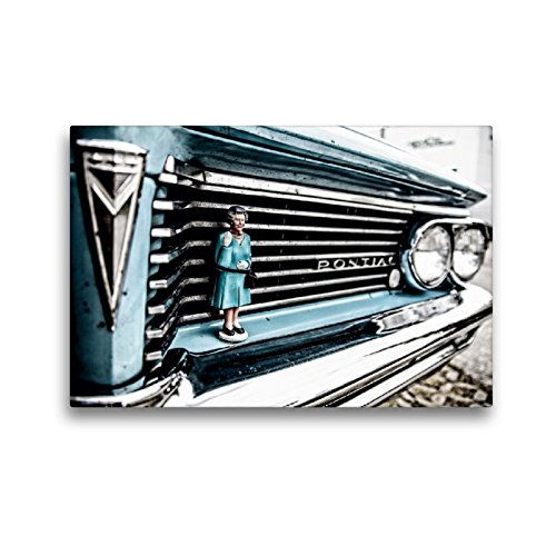 Premium Textil-Leinwand 45 x 30 cm Quer-Format Geburtstag Auto | Wandbild, HD-Bild auf Keilrahmen, Fertigbild auf hochwertigem Vlies, Leinwanddruck von Micaela Abel