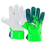 Puma Unisex's Future Grip 18.4 Gloves, Green Gecko-Deep Lagoon White, Size 8
