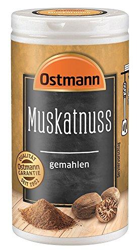 Ostmann Muskatnuss gemahlen 35 g Muskatnuss Gewürz, Muskatnusspulver, aromatisches Gewürz für Gemüse & Kartoffeln, aus der orientalischen Küche, Menge: 1 Stück