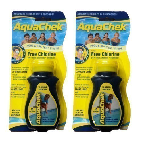 Happy Hot Tubs 2 Pack AquaChek 4 Way Chlor Teststreifen (100) Whirlpool Schwimmbad Aquacheck