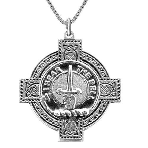 Bell Scottish Clan Crest Celtic Cross Pendant