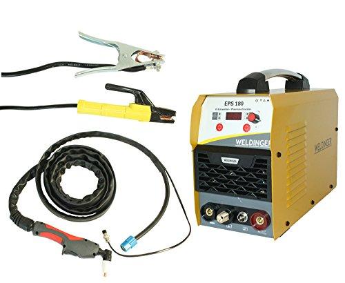 WELDINGER EPS180 Elektroden-Schweißinverter + Plasmaschneider Kombigerät 180A/45 A