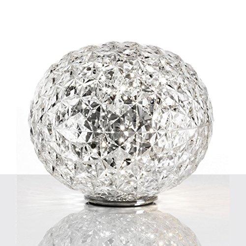 Kartell Planet Lampada da Tavolo 22 W, Cristallo, 31x28 cm