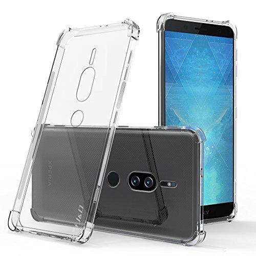 J&D Compatible para Sony Xperia XZ2 Premium Funda, [Cojín de Esquina] [Ligero] [Ultra-Clear] Funda de Protector Silicona de Delgado para Xperia XZ2 Premium Case - [No para Sony XZ2/XZ2 Compact]