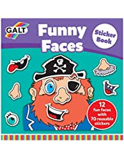 Galt Toys Funny Faces Sticker Book, multicolor, A3069A
