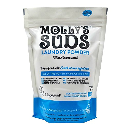 Molly's Suds Original Laundry Detergent Powder 70 Loads, Natural Laundry Soap for Sensitive Skin