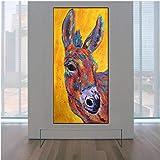 Jwqing Poster und Drucke Großen Augen Niedlichen Esel
