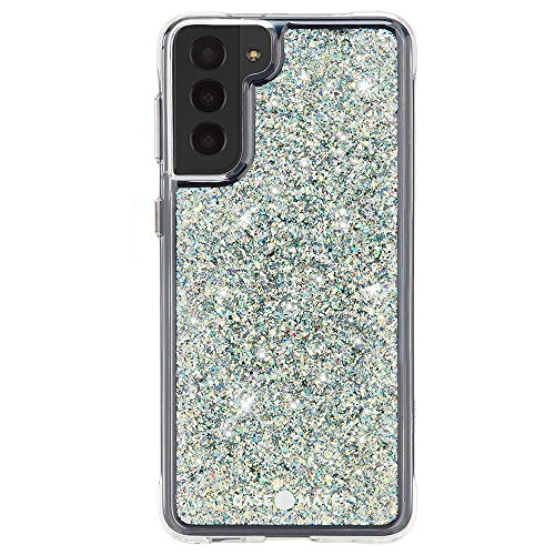 Case-Mate - Twinkle - Case for Samsung Galaxy S21 5G - Glitter Foil Elements - 10 ft Drop Protection - 6.2 inch - Stardust