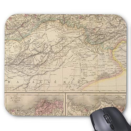 Mauspad mit seidenweicher Textiloberfl?che - Mouse Pad Paradise (antistatische Wirkung - perfekte Gleiteigenschaft PC / Computer Mousepad)-Algerien Tunesien
