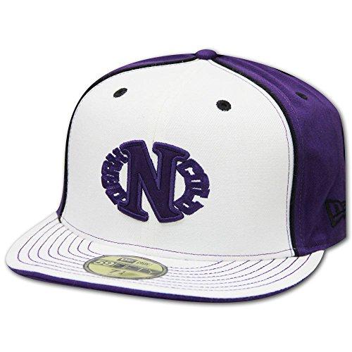 Dark N' Cold Egg Logo Baseball Cap White Purple Back
