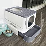 Self Cleaning Cat Litter Box Anti-Splashing and Deodorizing Fully Enclosed Drawer Top Entry Self Cleaning Cat Toilet Suitable for Cats Under 18 Pounds Cat Supplies