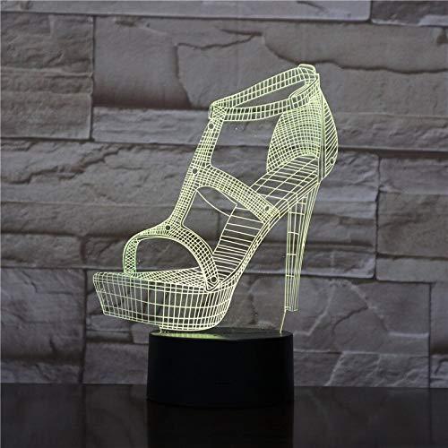 Zapatos de tacón Alto para Mujer luz Nocturna atmósfera lámpara de Mesa...
