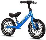 Bicicleta para Niños y Niñas Ligera bicicleta de equilibrio, los niños bicicleta de entrenamiento con altura ajustable del asiento y manillar, neumáticos inflación libres EVA, n-Pedal Pre Caminar bici